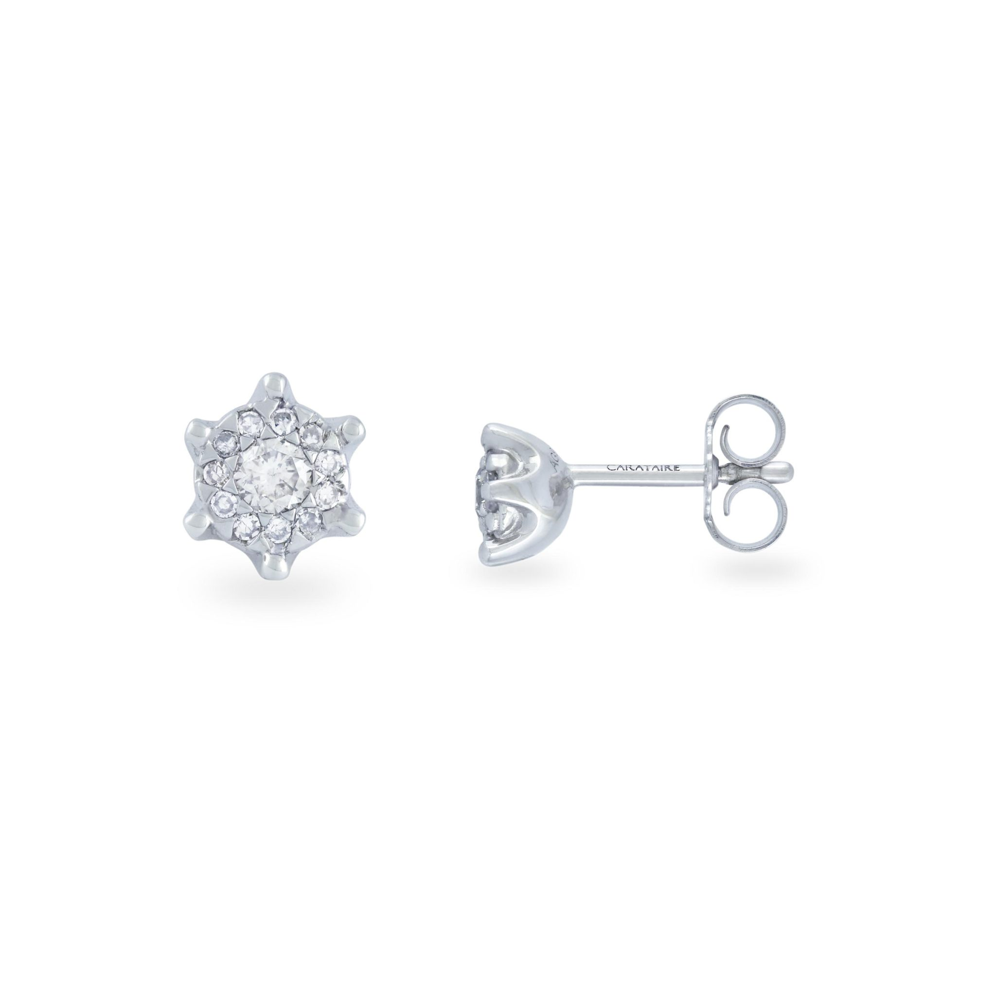 solitaire studs pair diamond white blurry grants cluster product stud jewelry gold