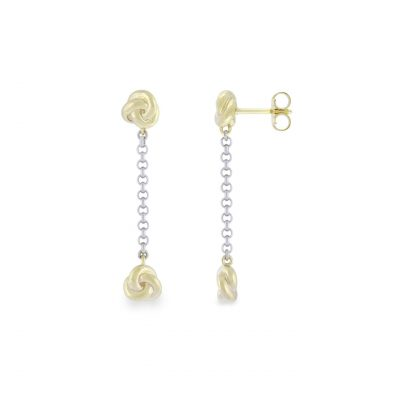 VILMAS earrings Shake: Elegantly hanging earrings with gold plated 925er sterling silver