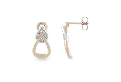 VILMAS earrings Hidden Glance: Earrings with infinity sign, rose gold plated 925er sterling silver and white stones