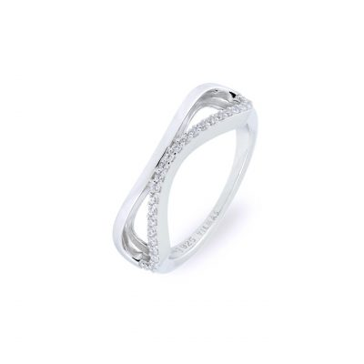 VILMAS ring Infinity: Silver ring with white stones