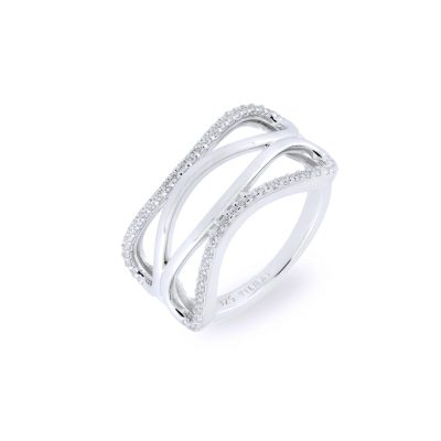 VILMAS ring Eternity: Silver ring infinity with white stones