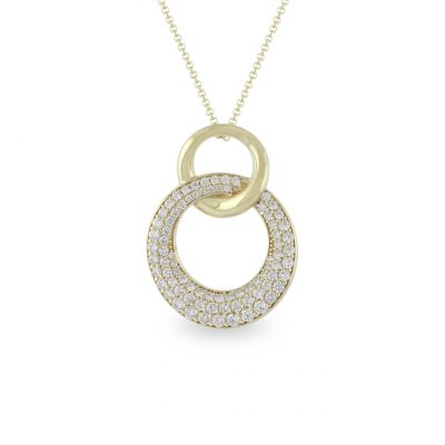 VILMAS pendant Secret Kiss: Gold plated pendant with white crystal