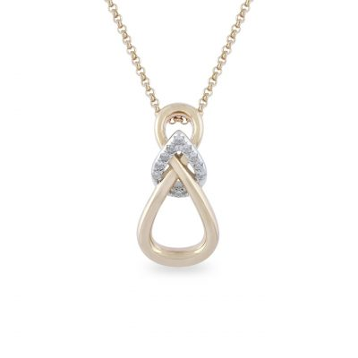 VILMAS pendant Soul: Pendant with infinity design and rose gold plated with white stones