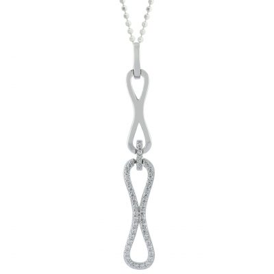 VILMAS pendant Eternity: Silver pendant with infinity design and white zirconia stones